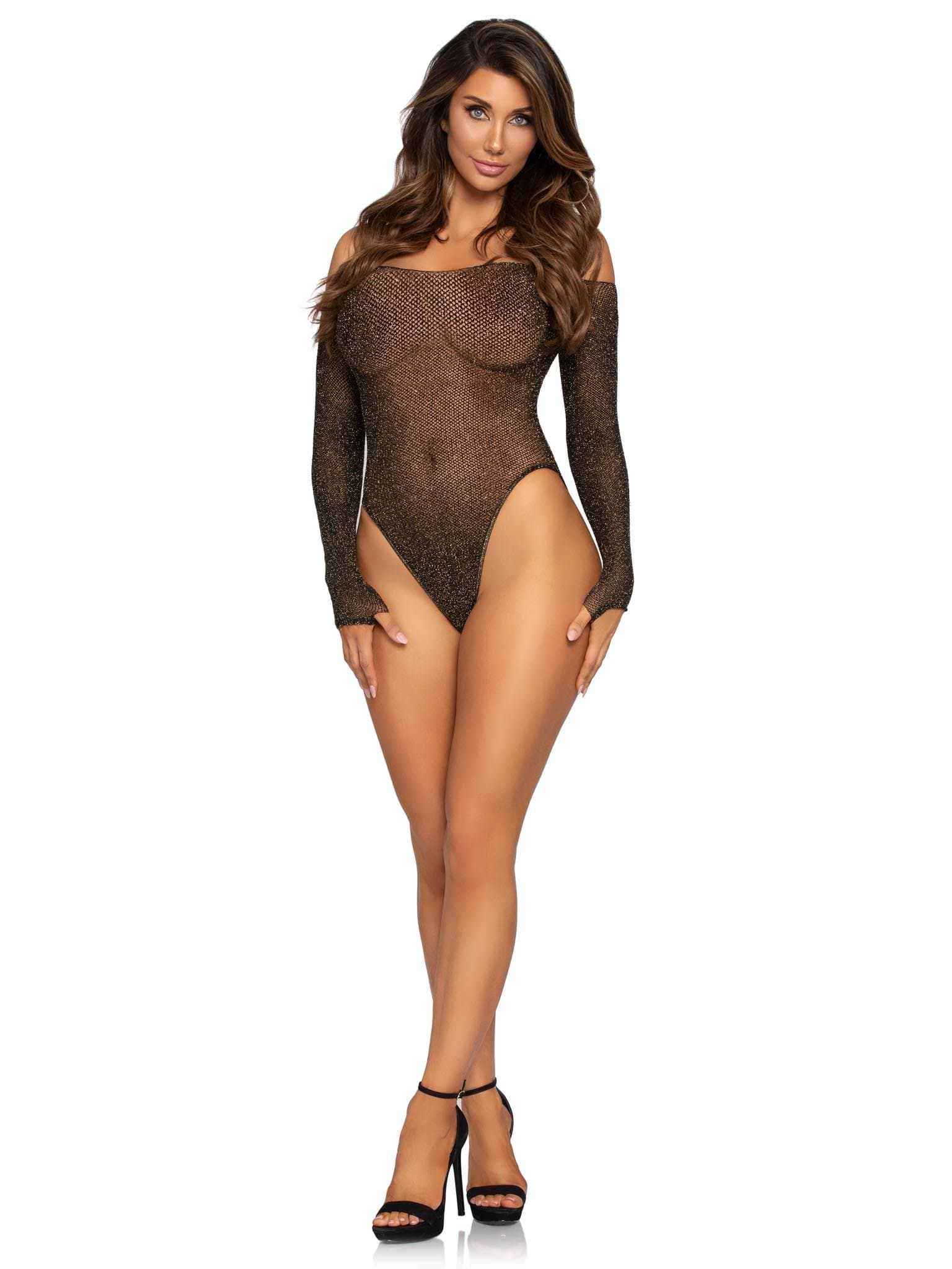 Legavenue Shimmer Fishnet Bodysuit
