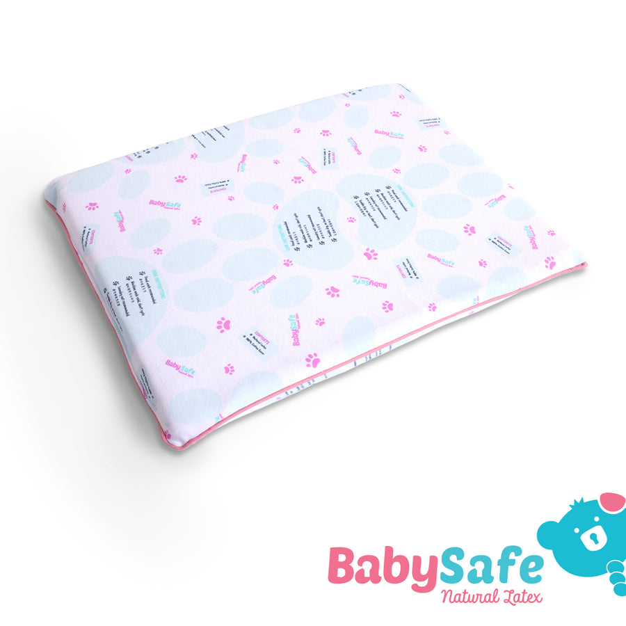BabySafe Baby Pillow Stage 2 - Latex Infant Pillow (with 1 case)