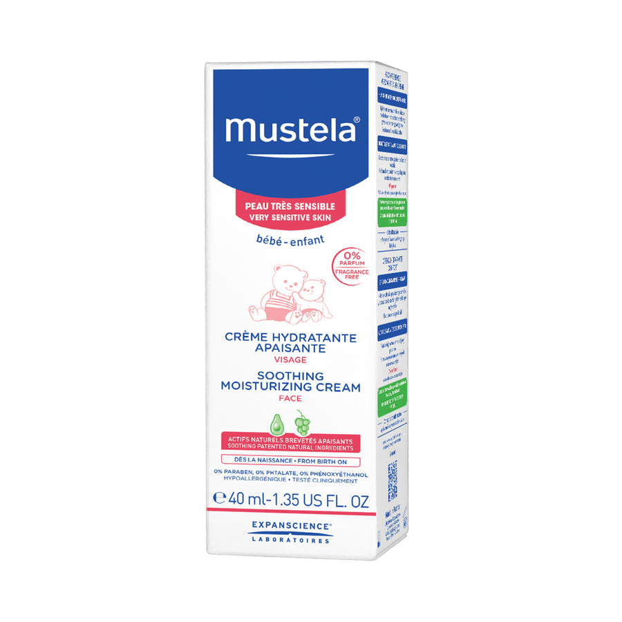Mustela Soothing Moisturizing Face Cream (fragrance-free) 40ml [EXP: 01/2023]