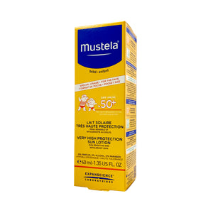 Mustela SPF50+ Very High Protection Sun Lotion 40ml (water resistant) [EXP: 05/2022]