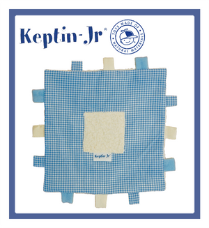 Keptin-Jr Blankiez: Label Square Soft Blue (20cm x 20cm)