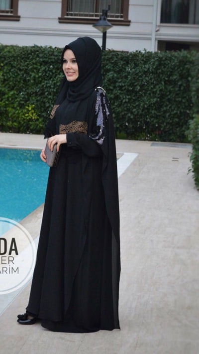 Black Abaya - NisaLife - Buy Fashion Muslim Women Clothing, Hijab, Dress Abaya, Scarf, Shawl, Headscarf