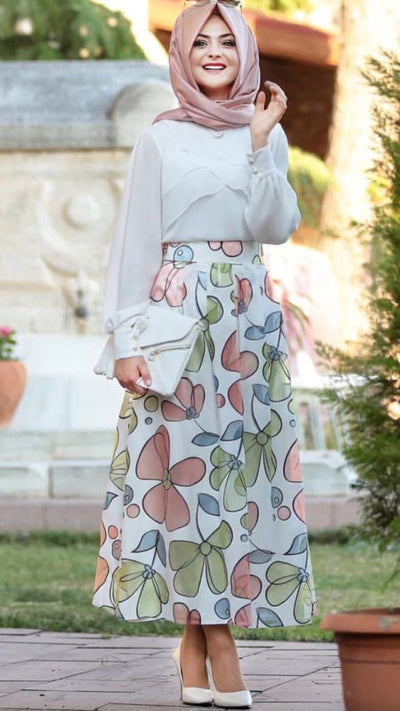 Summer Skirt Pink Green - NisaLife - Buy Fashion Muslim Women Clothing, Hijab, Dress Abaya, Scarf, Shawl, Headscarf
