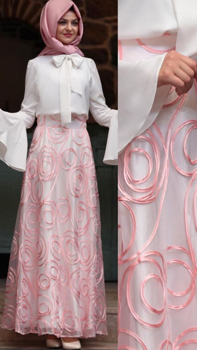 Light Pink Skirt - NisaLife - Buy Fashion Muslim Women Clothing, Hijab, Dress Abaya, Scarf, Shawl, Headscarf