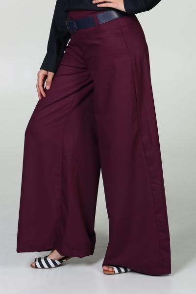 Cool Breeze - Wide Leg Pants with Belt - NisaLife - Buy Fashion Muslim Women Clothing, Hijab, Dress Abaya, Scarf, Shawl, Headscarf