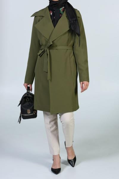Autumn Harvest - Wide Notch Collar - Trench Coat