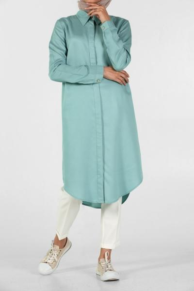 Classic Point Collar - Shirt Dress - NisaLife - Buy Fashion Muslim Women Clothing, Hijab, Dress Abaya, Scarf, Shawl, Headscarf