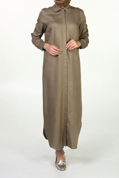 Crocodile - Point Collar - Long - Shirt Dress - NisaLife - Buy Fashion Muslim Women Clothing, Hijab, Dress Abaya, Scarf, Shawl, Headscarf