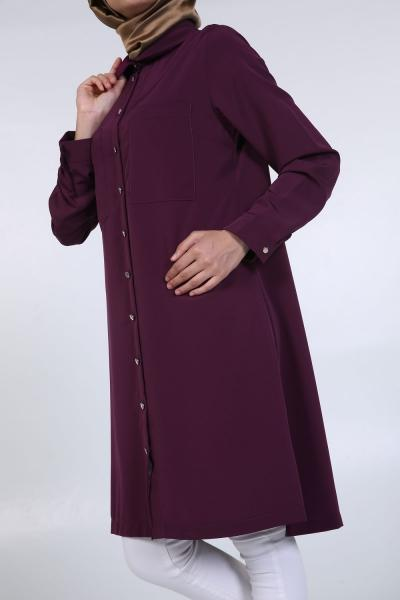 Relax Peter Pan Collar - Shirt Dress - NisaLife - Buy Fashion Muslim Women Clothing, Hijab, Dress Abaya, Scarf, Shawl, Headscarf