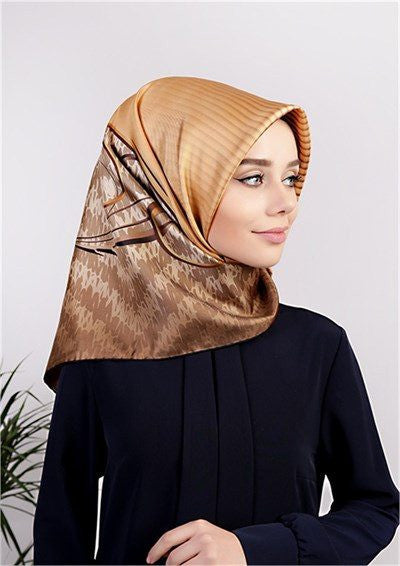 Levidor Twill Silk Hijab Scarf - Desert  - NisaLife - Buy Fashion Muslim Women Clothing, Hijab, Dress Abaya, Scarf, Shawl, Headscarf