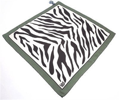 Levidor Twill Silk Scarf - Zebra  - NisaLife - Buy Fashion Muslim Women Clothing, Hijab, Dress Abaya, Scarf, Shawl, Headscarf