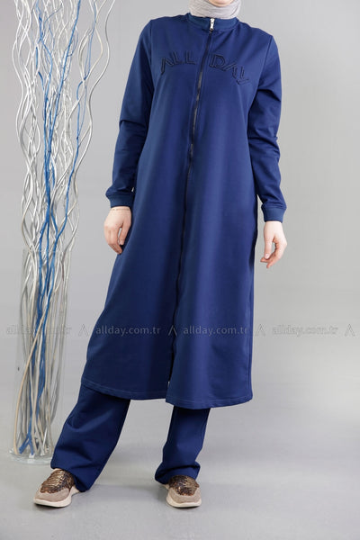 Indigo Workout - Tracksuit - NisaLife - Buy Fashion Muslim Women Clothing, Hijab, Dress Abaya, Scarf, Shawl, Headscarf