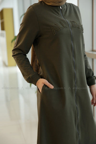 Khaki Workout - Tracksuit - NisaLife - Buy Fashion Muslim Women Clothing, Hijab, Dress Abaya, Scarf, Shawl, Headscarf