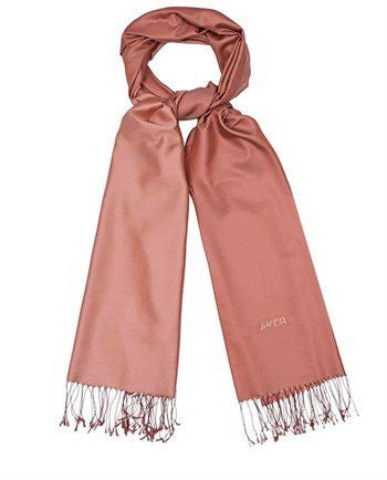 Aker 100% Silk Hijab Shawl with Swarovski Stones- Coral & Dusty Pink - NisaLife - Buy Fashion Muslim Women Clothing, Hijab, Dress Abaya, Scarf, Shawl, Headscarf