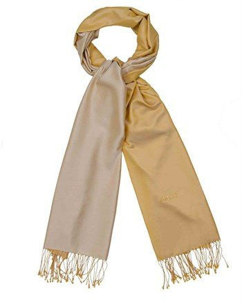 Aker 100% Silk Hijab Shawl with Swarovski Stones- Gold & Ecru - NisaLife - Buy Fashion Muslim Women Clothing, Hijab, Dress Abaya, Scarf, Shawl, Headscarf