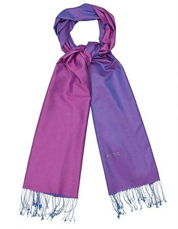 Aker 100% Silk Hijab Shawl with Swarovski Stones - Magenta & Purple - NisaLife - Buy Fashion Muslim Women Clothing, Hijab, Dress Abaya, Scarf, Shawl, Headscarf