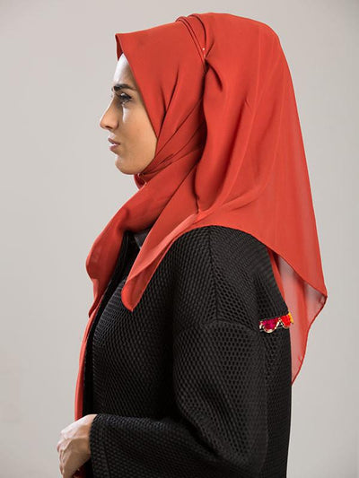 Argite Alya Chiffon Hijab Shawl - Tile Red - NisaLife - Buy Fashion Muslim Women Clothing, Hijab, Dress Abaya, Scarf, Shawl, Headscarf