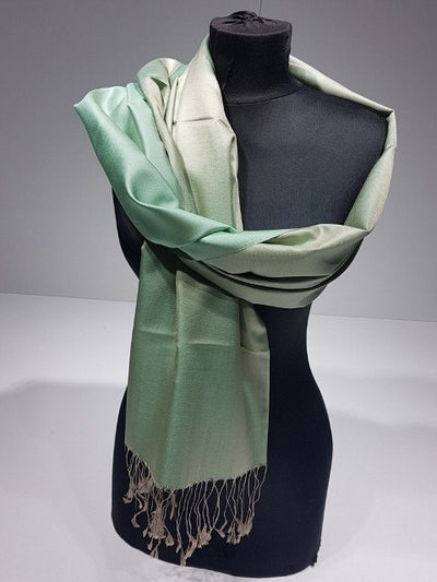 Karaca 100% Indian Silk Shawl - Mint - NisaLife - Buy Fashion Muslim Women Clothing, Hijab, Dress Abaya, Scarf, Shawl, Headscarf