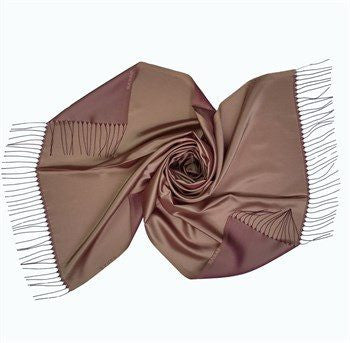Sarar Taffeta Hijab Shawl - Mink & Maroon - NisaLife - Buy Fashion Muslim Women Clothing, Hijab, Dress Abaya, Scarf, Shawl, Headscarf