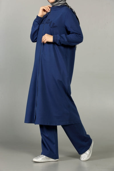 Ocean Blue Workout - Tracksuit - NisaLife - Buy Fashion Muslim Women Clothing, Hijab, Dress Abaya, Scarf, Shawl, Headscarf