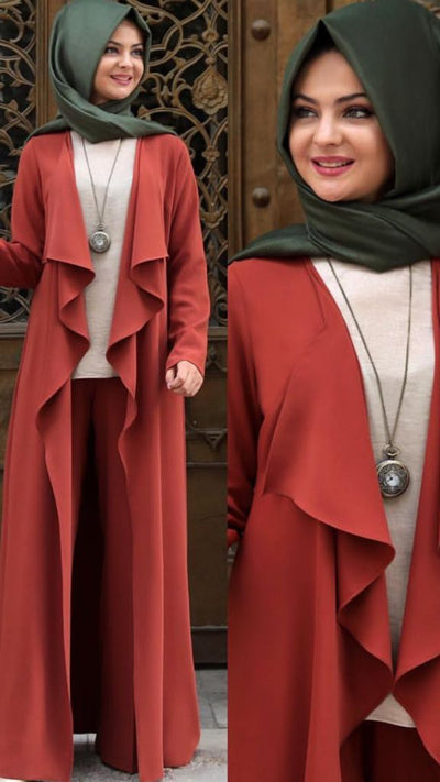 Texas Color Topcoat - NisaLife - Buy Fashion Muslim Women Clothing, Hijab, Dress Abaya, Scarf, Shawl, Headscarf