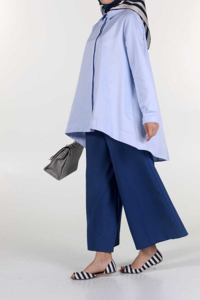 Light Blue - Tunic - NisaLife - Buy Fashion Muslim Women Clothing, Hijab, Dress Abaya, Scarf, Shawl, Headscarf