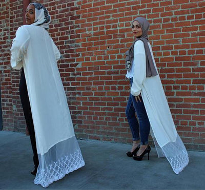 Eggshell duster bisht open abaya - NisaLife - Buy Fashion Muslim Women Clothing, Hijab, Dress Abaya, Scarf, Shawl, Headscarf