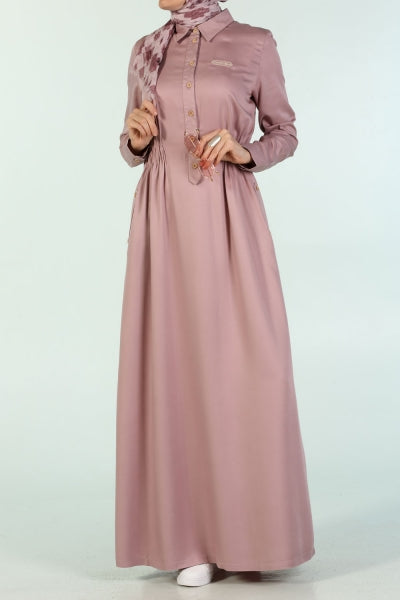 Hydrangea - Point Collar - Dress - NisaLife - Buy Fashion Muslim Women Clothing, Hijab, Dress Abaya, Scarf, Shawl, Headscarf