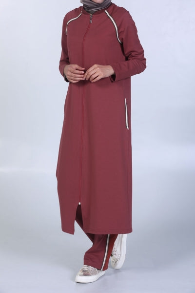 Cherry Red Workout - Tracksuit - NisaLife - Buy Fashion Muslim Women Clothing, Hijab, Dress Abaya, Scarf, Shawl, Headscarf
