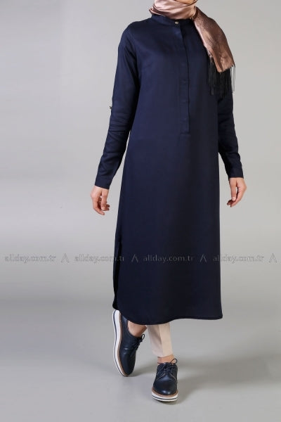 MyDay - Dark Blue Tunic - NisaLife - Buy Fashion Muslim Women Clothing, Hijab, Dress Abaya, Scarf, Shawl, Headscarf