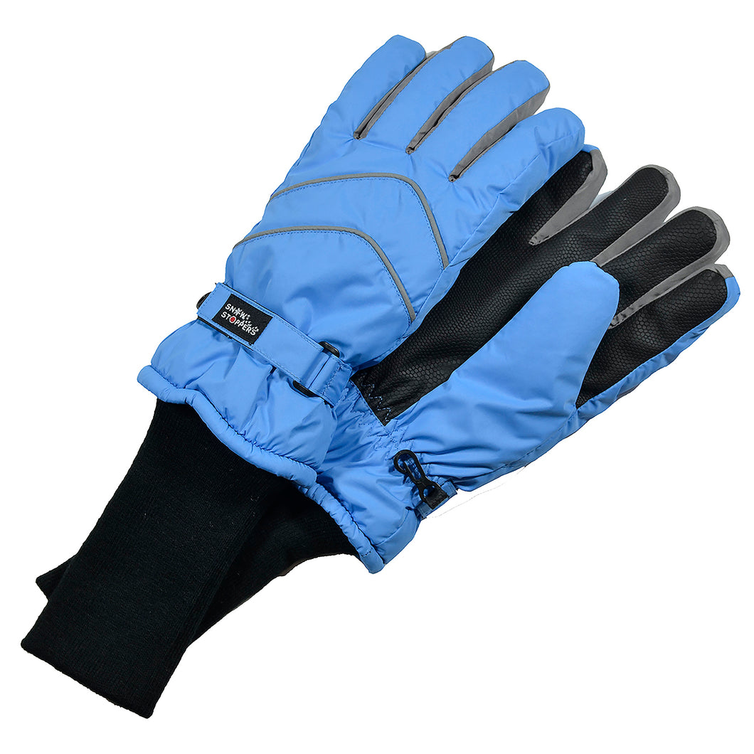 SnowStoppers Kids Waterproof Long Cuff Winter Gloves