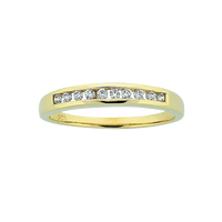 9ct Channel Set Diamond Ring