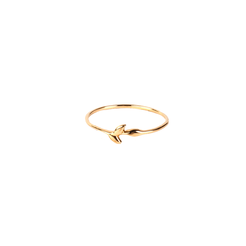 9ct Gold Leaf Dress Ring