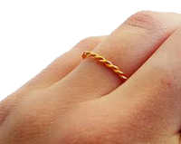 9ct Gold Rope Ring