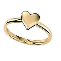 9ct Heart Shaped Dress Ring