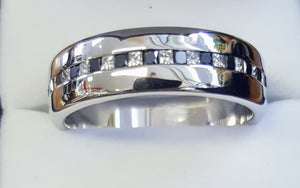 Gents 18ct White Gold Wedder