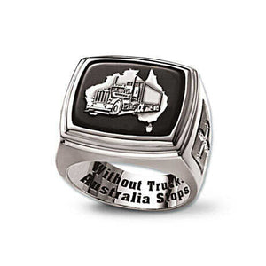 Sterl ing Silver Trucker Ring