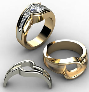 Customize your ring in yellow gold or white gold