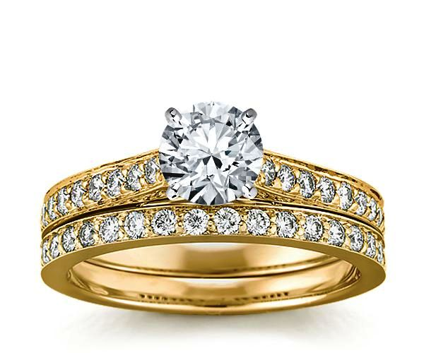 Fitted Wedder to Engagement Ring Set 18ct