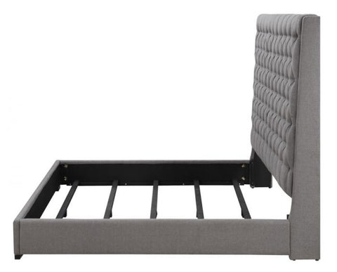 Image of Camille Upholstered Bed In Grey