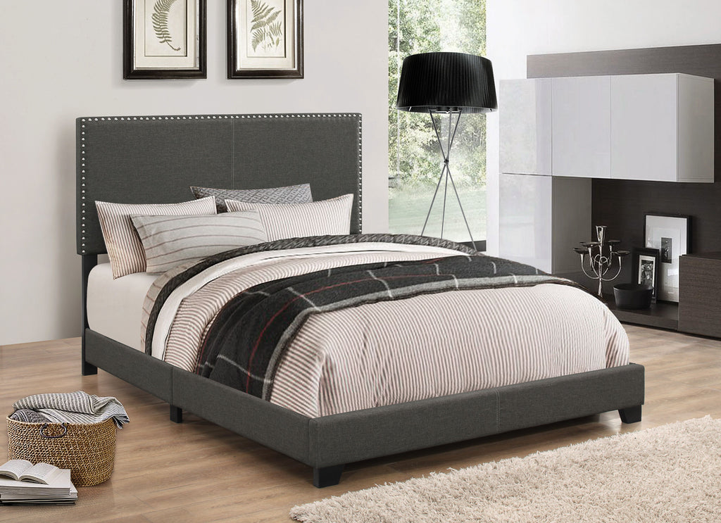 Boyd Upholstered Bed in Charcoal