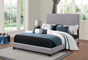 Boyd Upholstered Bed in Grey