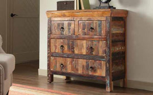 Zeren 4 Drawer Reclaimed Wood Cabinet