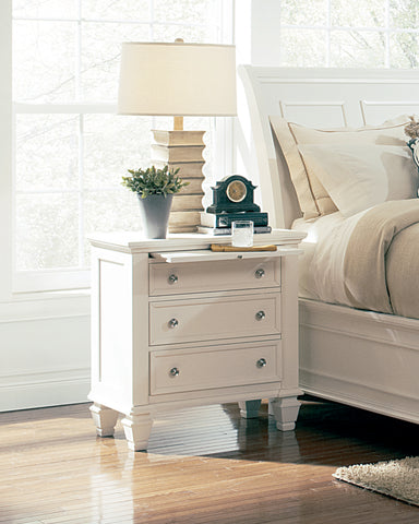 Image of Sandy Beach Collection Nightstand White