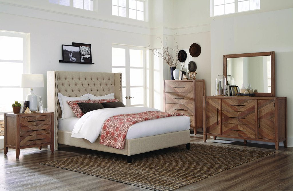 Auburn and Benicia Collection 4 Piece Queen Bedroom Set
