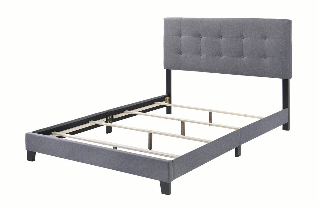 Mapes Upholstered Bed in Grey