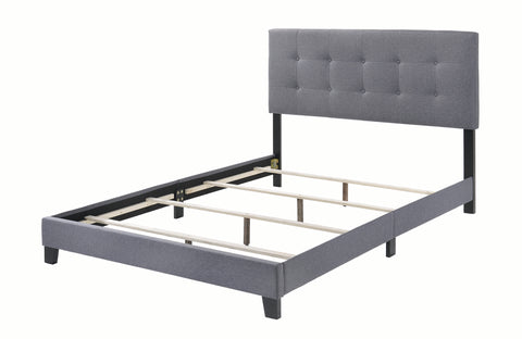 Image of Mapes Upholstered Bed in Grey