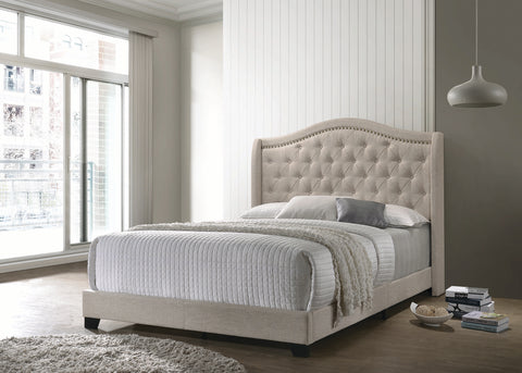 Image of Sonoma Upholstered Bed in Beige