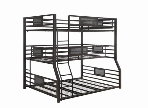Image of Rogen Triple Full/Txl/Queen Bunk Bed