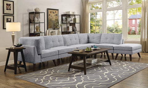 Image of Churchill Collection Sectional in Grey